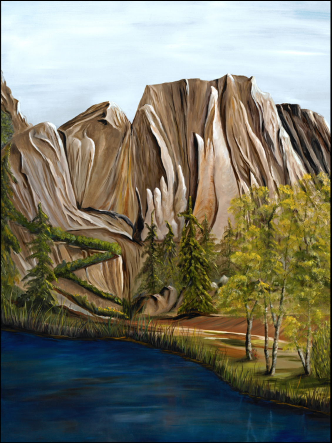 Phyllis Gunderson - http://pagunderson.comI use high quality oil paints on canvas or cradled board to create spirit themed landscapes.