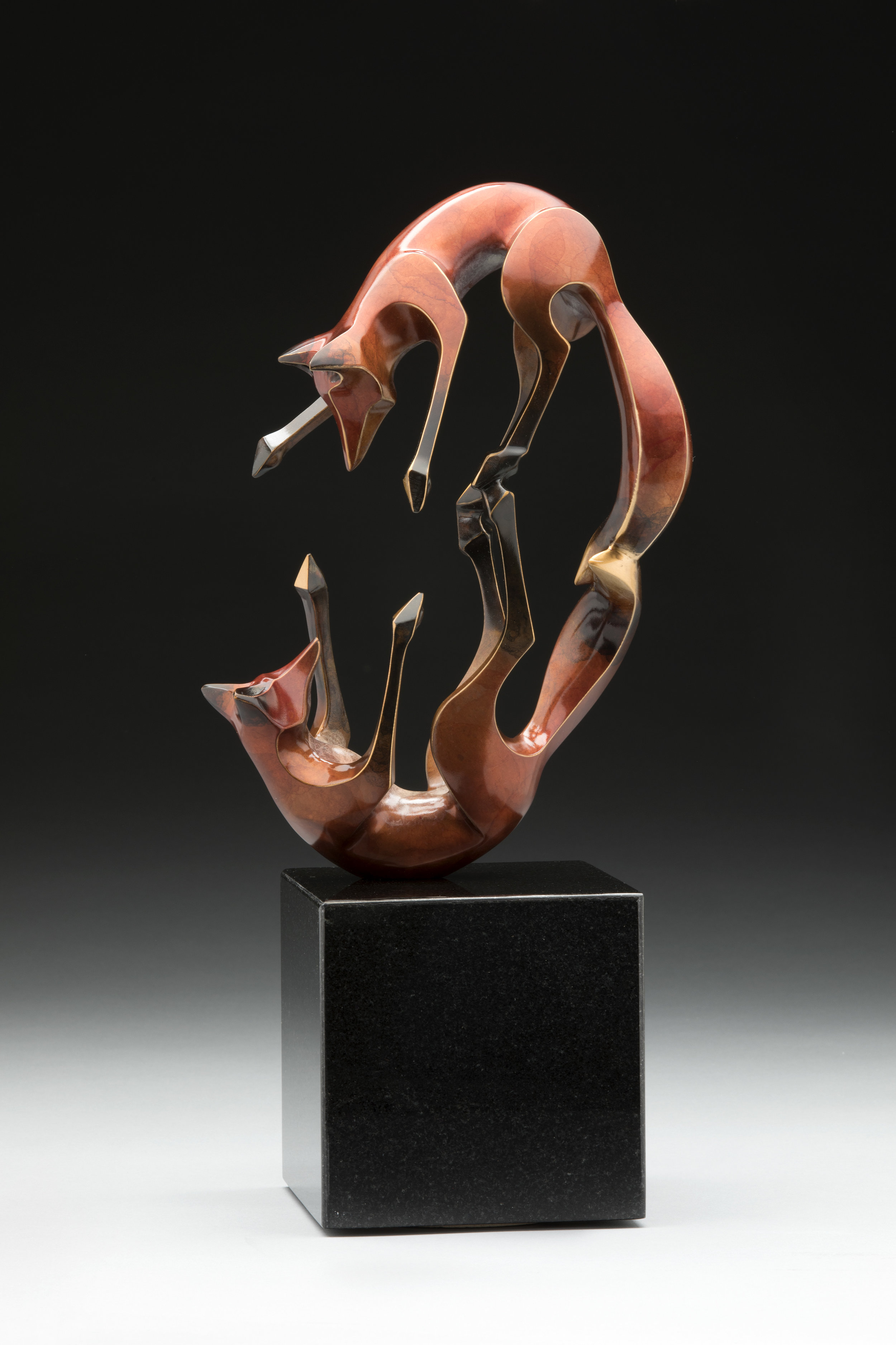 Laurel Peterson Gregory - http://www.laurelpetersongregory.comAll pieces are limited-edition bronzes. Complex patinas complement clean lines and strong motion. The artist is involved every aspect of the creation from the original design to the completed piece.