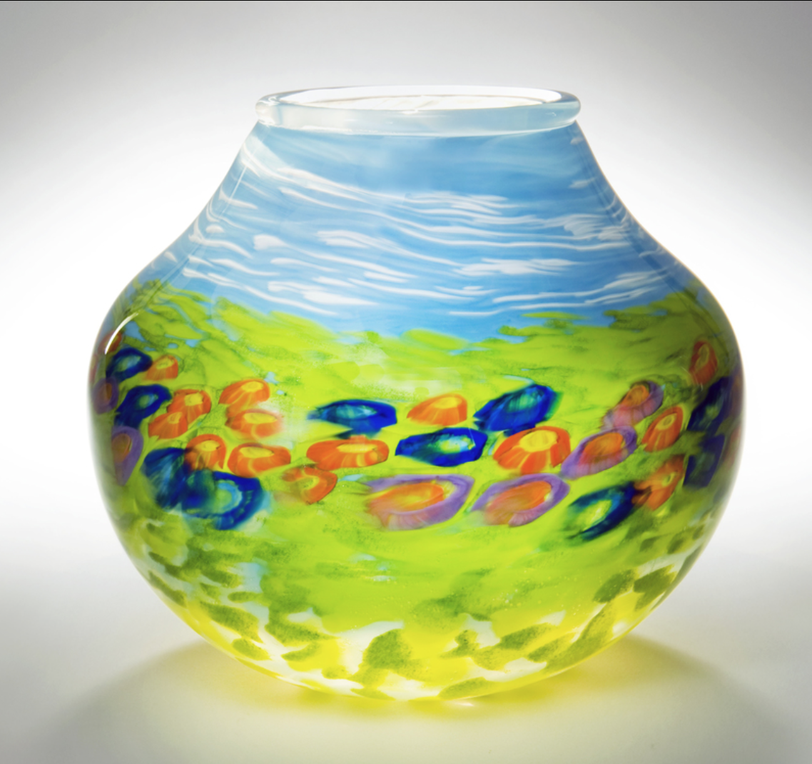 Dana Robbins - http://www.robbinsranch.comFurnace glass. Hollow blown and solid sculpted forms. Architectural, decorative and functional art.