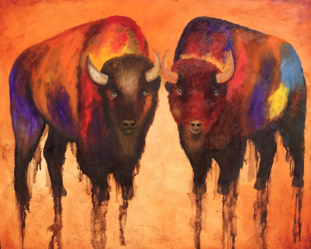 Brent Nageli - http://www.nagelifineartBeing colorblind is a challenge but makes my oil paintings more exciting and adventurous. They radiate colors that makes one stop in their tracks and tells a story for everyone to hear.