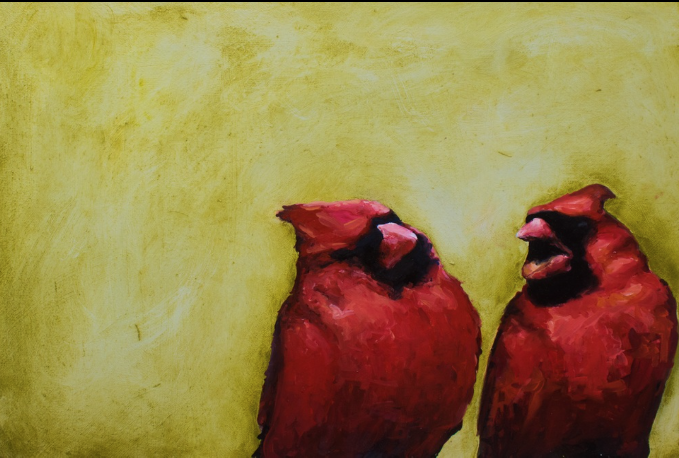 Robert Lococo - http://robertlococo.comI paint with oil, watercolor, encaustics. My subject matter is birdlife. A traditional subject that I put in contemporary scenarios, relationships. There is humor and beauty in my paintings.