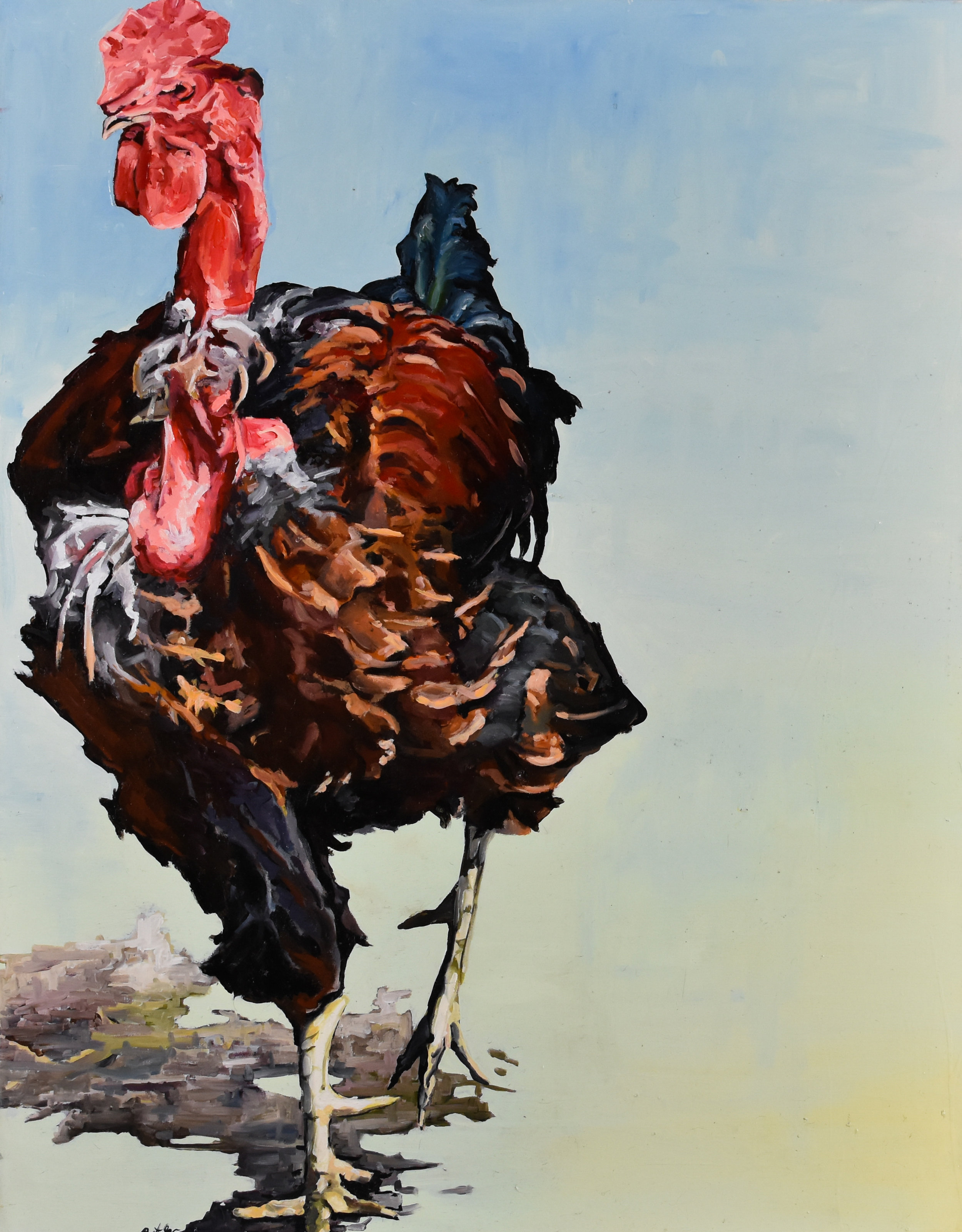 Robert Lococo - http://robertlococo.comOil, watercolor, and encaustic. Birdlife subject in contemporary scenarios. Observed behavior and realtionships. Capturing their personality I see human characteristics, humor and beauty can be seen