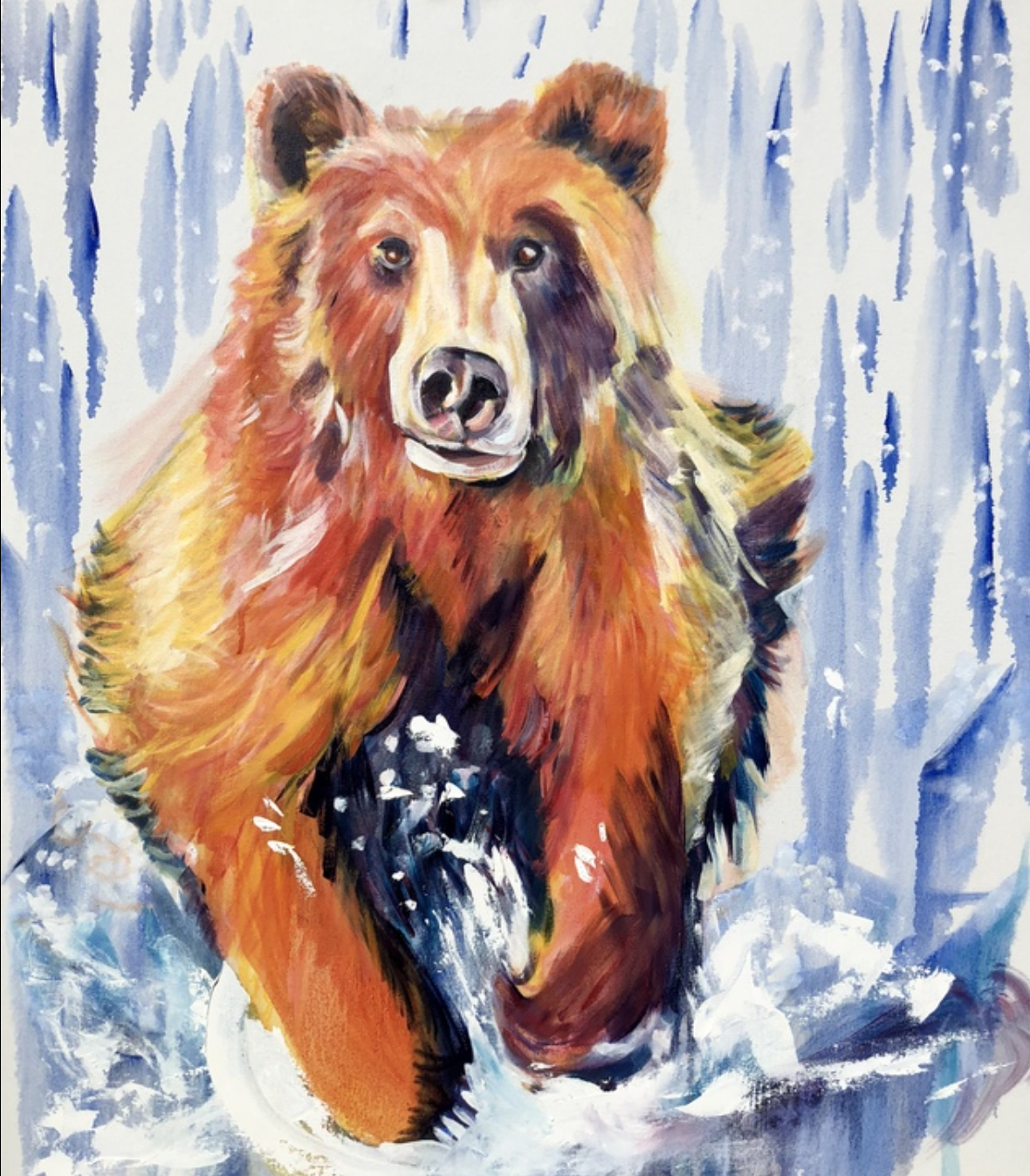 Nicole Perrin - http://nickieperrin.comThe visual content reflects my passion for wildlife in contemporary impressionistic form. Each painting is developed using numerous sheer glazes and distinctive marks.