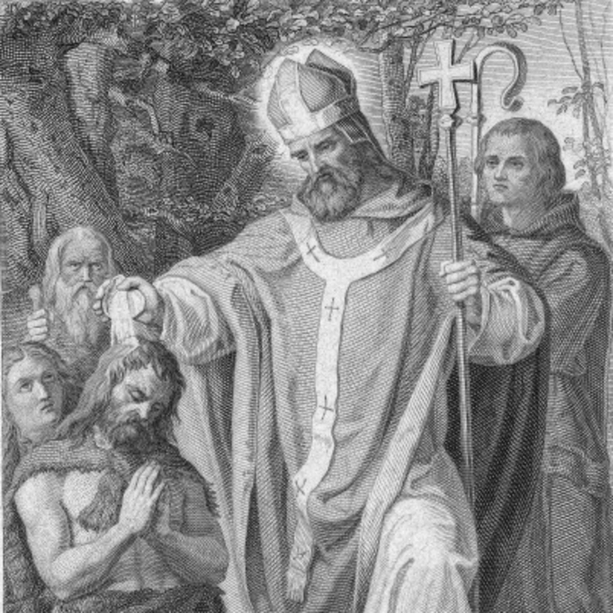 716 A.D. ••••••••••••• ST. BONIFACE - In 716 St. Boniface traveled from his Abbey in England to spread the Catholic faith to the people of Germany. As he led the faithful as the Archbishop of Mainz, abbeys were founded in and around Germany, spreading Benedictine monasticism.