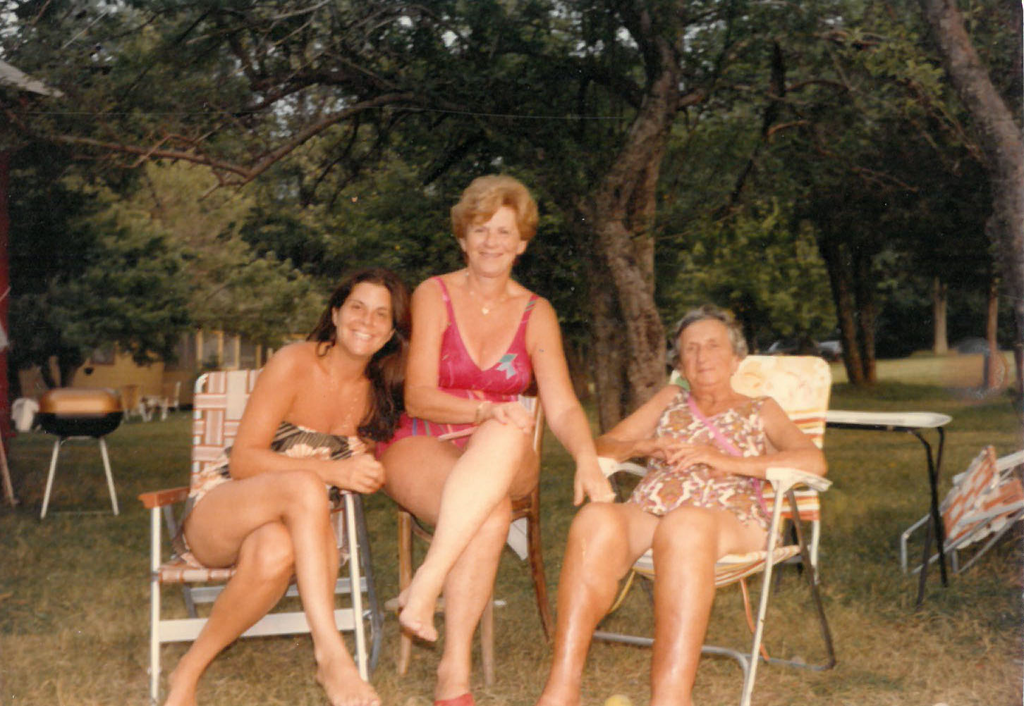 Author's mother, grandmother and great grandmother, Rosmarins, Monroe, NY