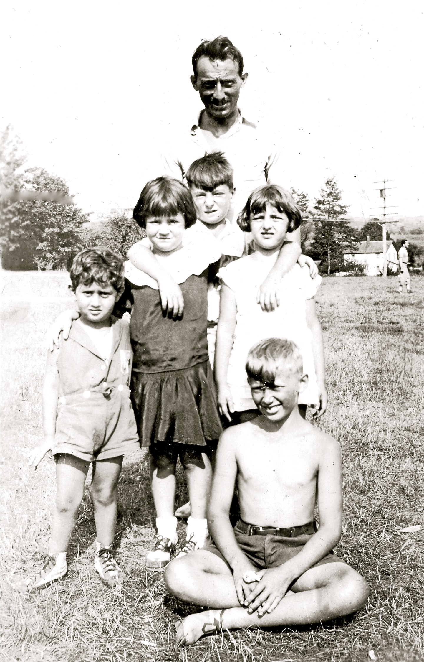 Author's family at a bungalow colony