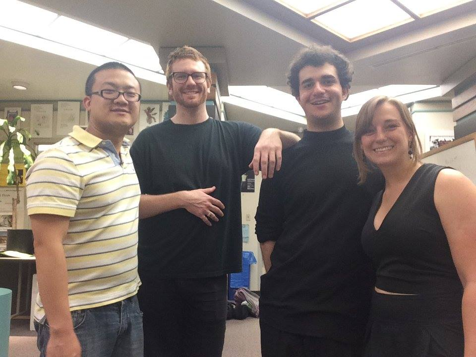 Joo Won Park, Hunter Brown, Louis Pino, Christiana Rose after the world premiere