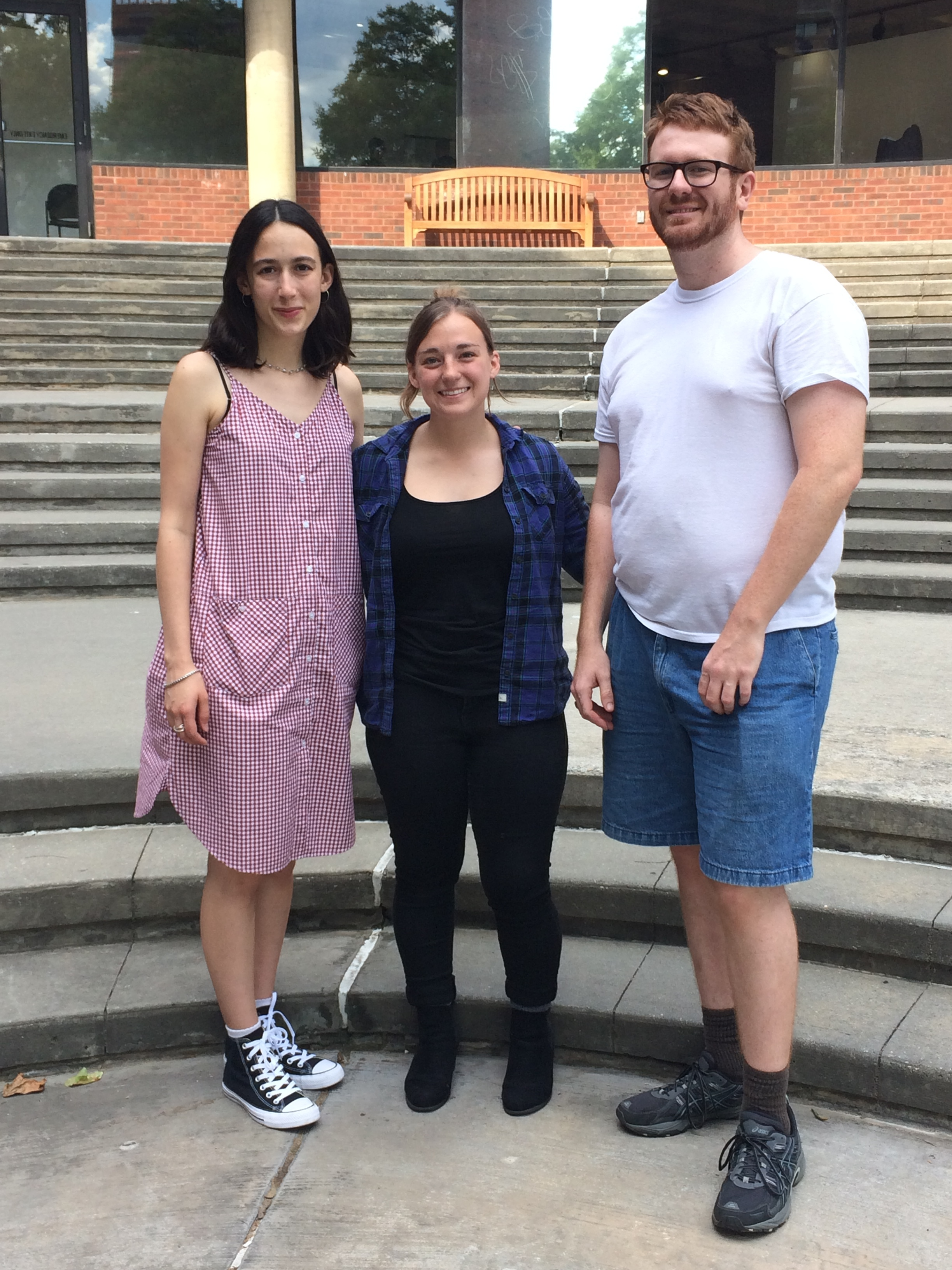 Leah Newman (left), Christiana Rose (center), Hunter Brown (right) at Abrons Art Center in NYC at NYCEMF 2017