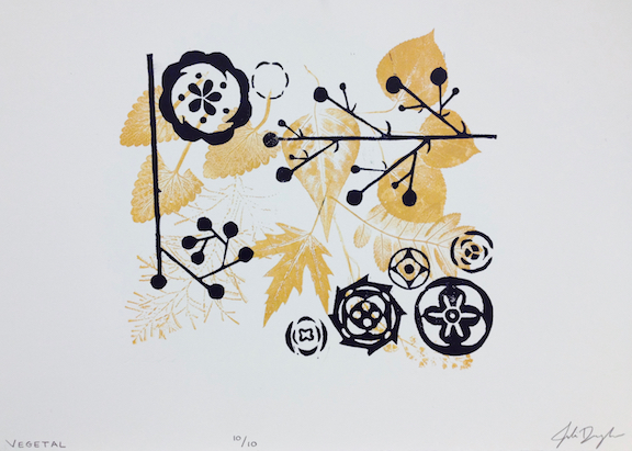 """Assignment:  Memory and Memento   Media: relief print with monotype  Size: 15"""" x 22"""""""