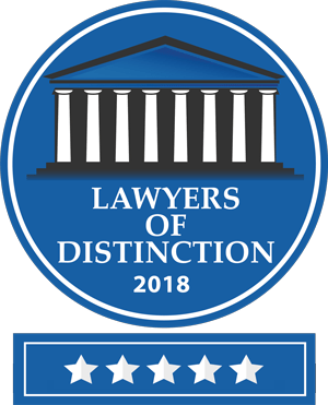 We Are Proud to Have Earned Our Place as Lawyers of Distinction -