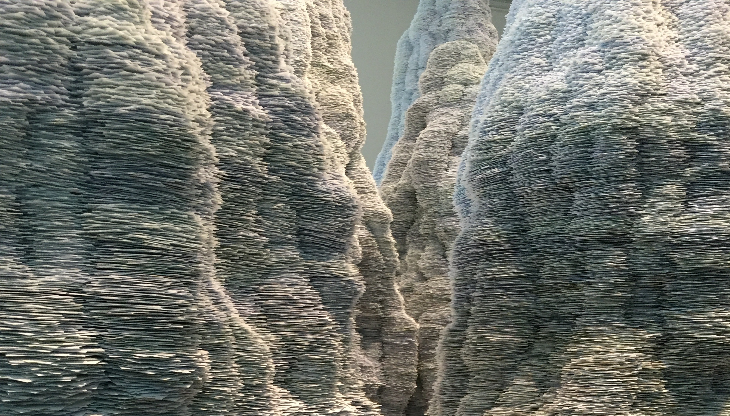 Landscape created from index cards by Tara Donovan (2014)
