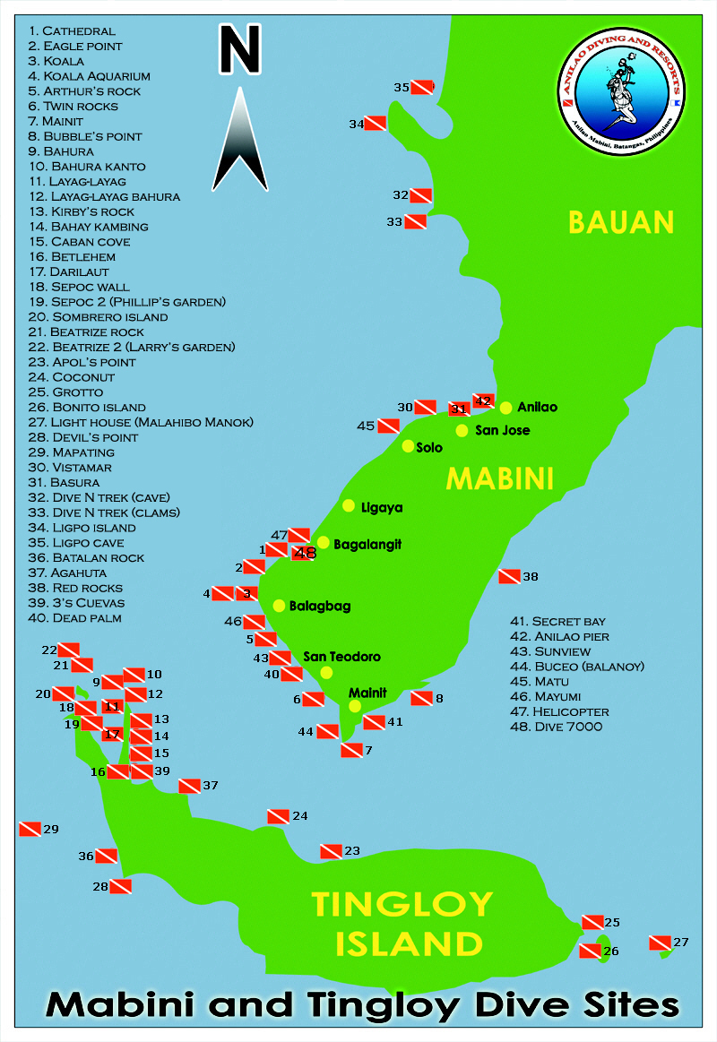 Click dive site map for full size view