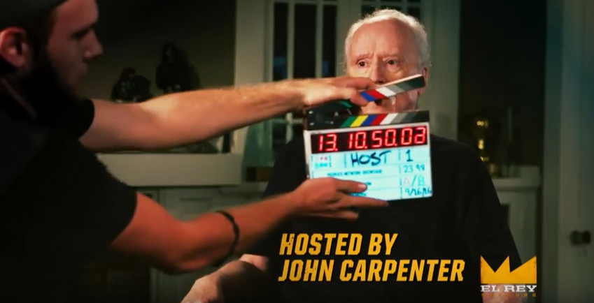 John Carpenter Getting Ready to shoot on El Rey Network
