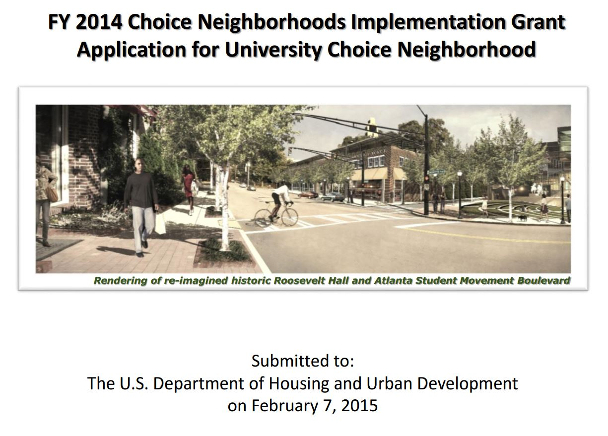 Choice Neighborhoods Economic Plan: Atlanta University Center area