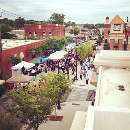 Douglasville's historic town center
