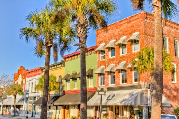 Historic downtown Brunswick, GA