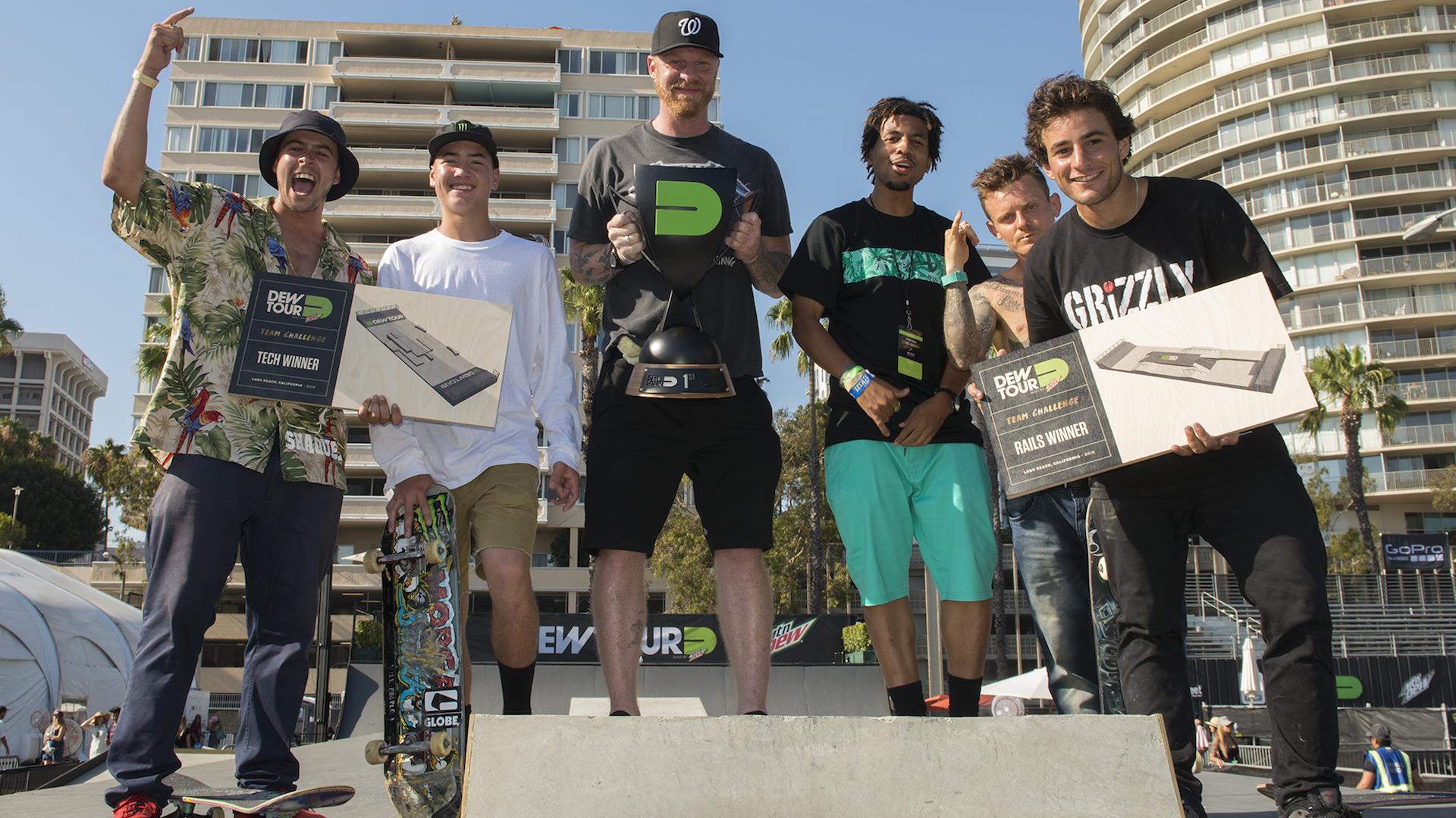 Blind skateboards team win dew tour challenge tj rogers trey wood bill weiss kevin romar cody mcentire micky papa