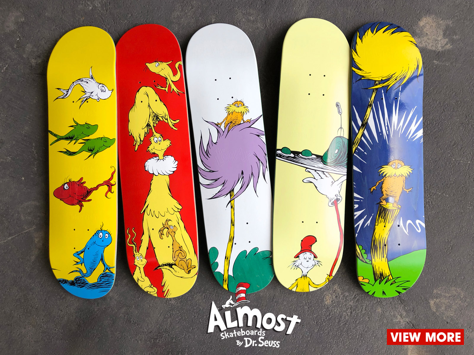 Almost Skateboard Dr Seuss collab