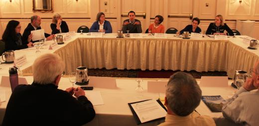 Congressman Ryan Costello (top row, center) discusses conservation issues with participants in a recent roundtable event in Malvern, Pa.