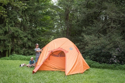 The DRM Togetherness contest prize: a Marmot Halo tent.