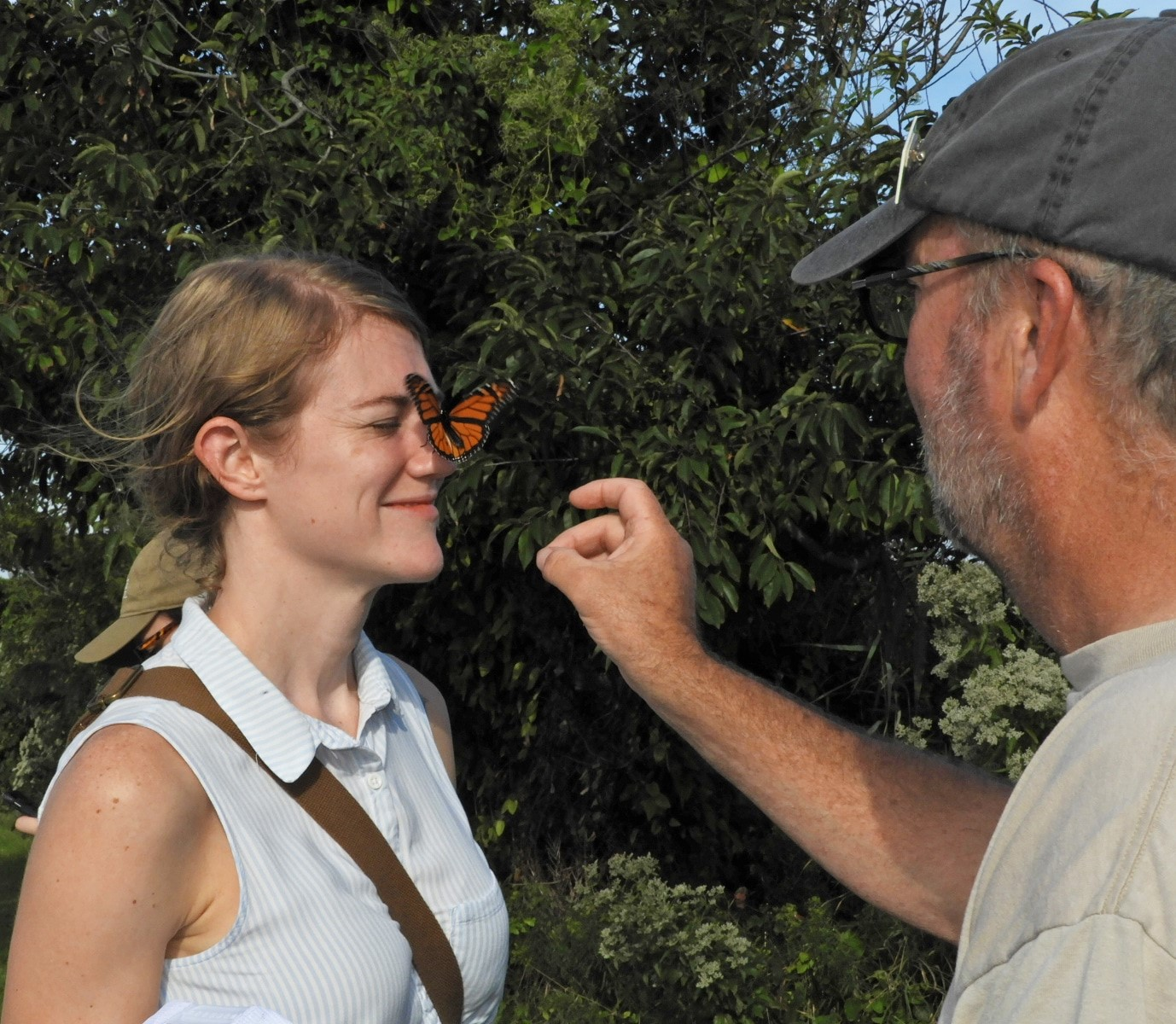 Angela Hotaling of NYLCV took part in the monarch butterfly tagging field trip at Cape May Point State Park.