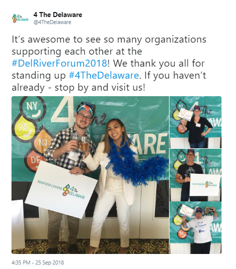 """A social media post from 4theDelaware's """"Call to Action - Tell Your Governors Why Watershed Protection Matters to You!"""""""