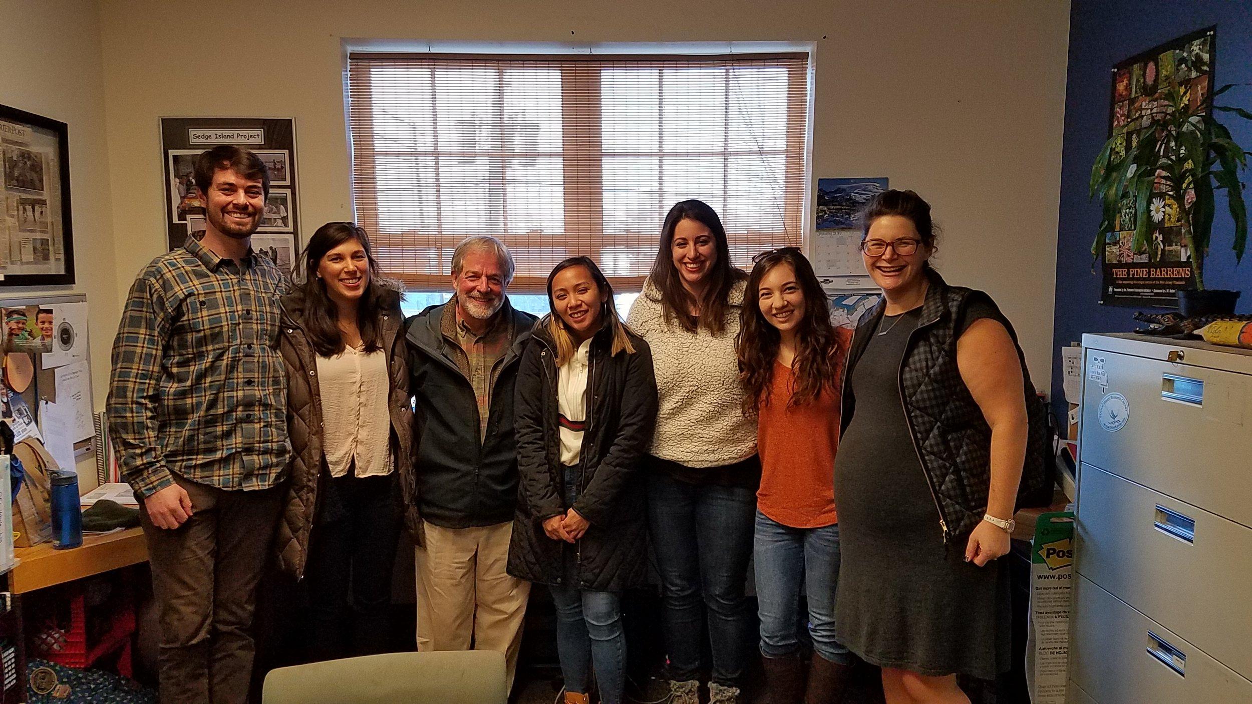 From left to right: Kevin Gassaway (UP), Rachel Abbott (UP), Jim Cummings (UP), Katharina Miguel (CDRW), Madeline Emde (CDRW), Sandra Meola (CDRW), Kourtney de la Cruz (UP)