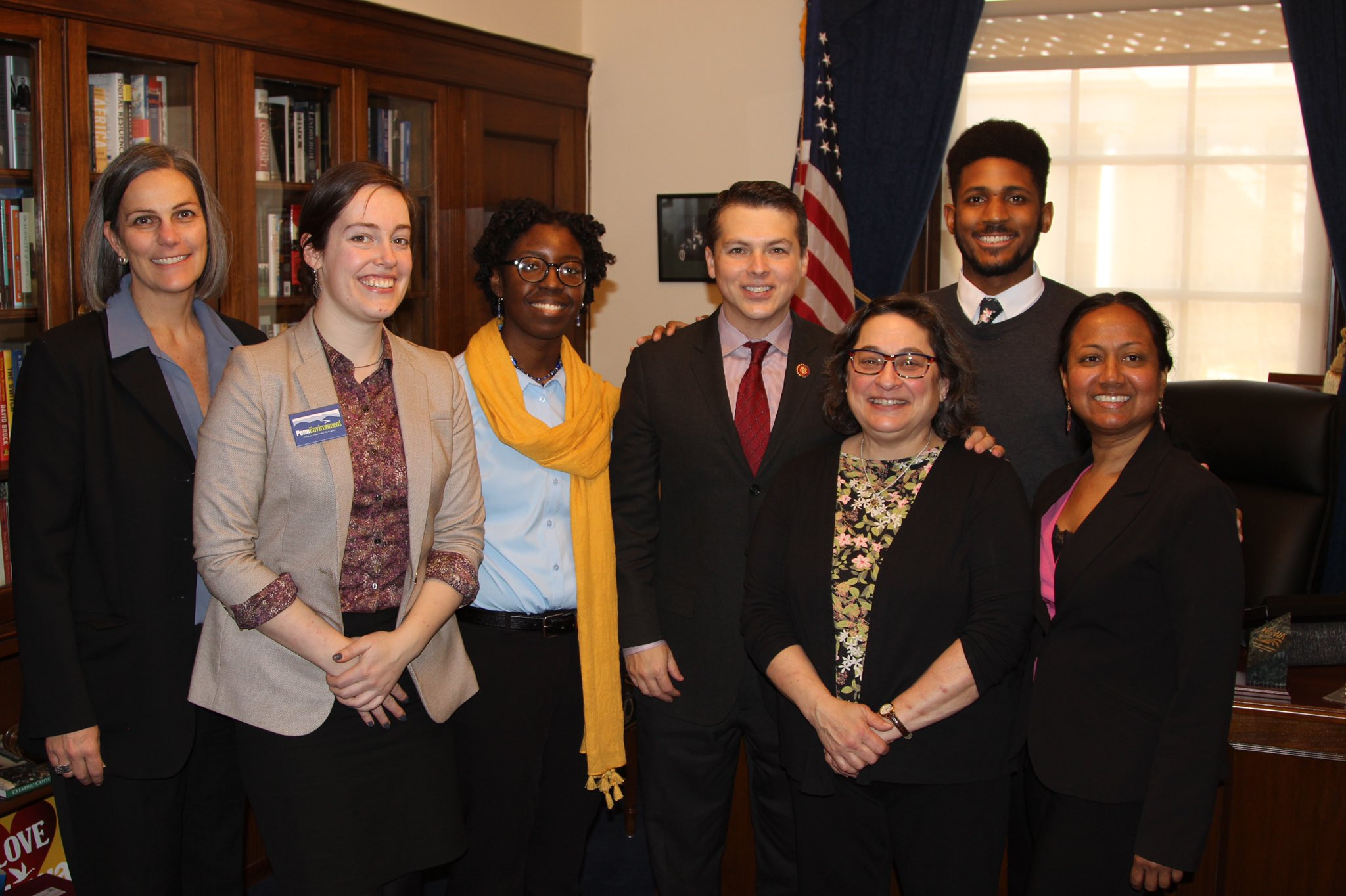 Representatives from Partnership for the Delaware Estuary, PennEnvironment, National Audubon, and Tookany/Tacony-Frankford Watershed Partnership met with Congressman Boyle during Hill Day.