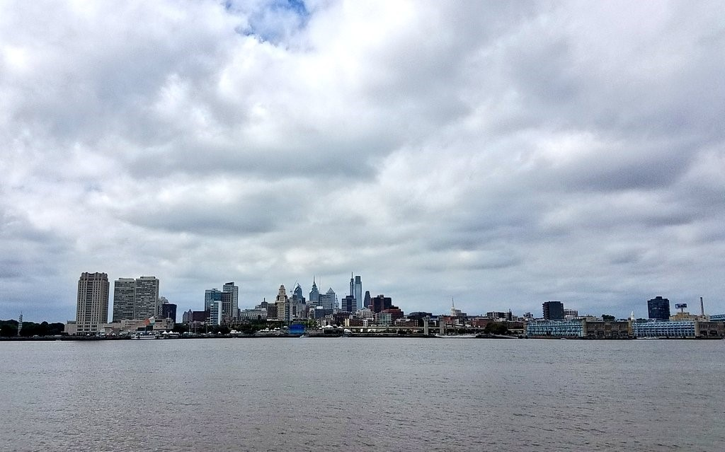 A view of Philadelphia from the Delaware River