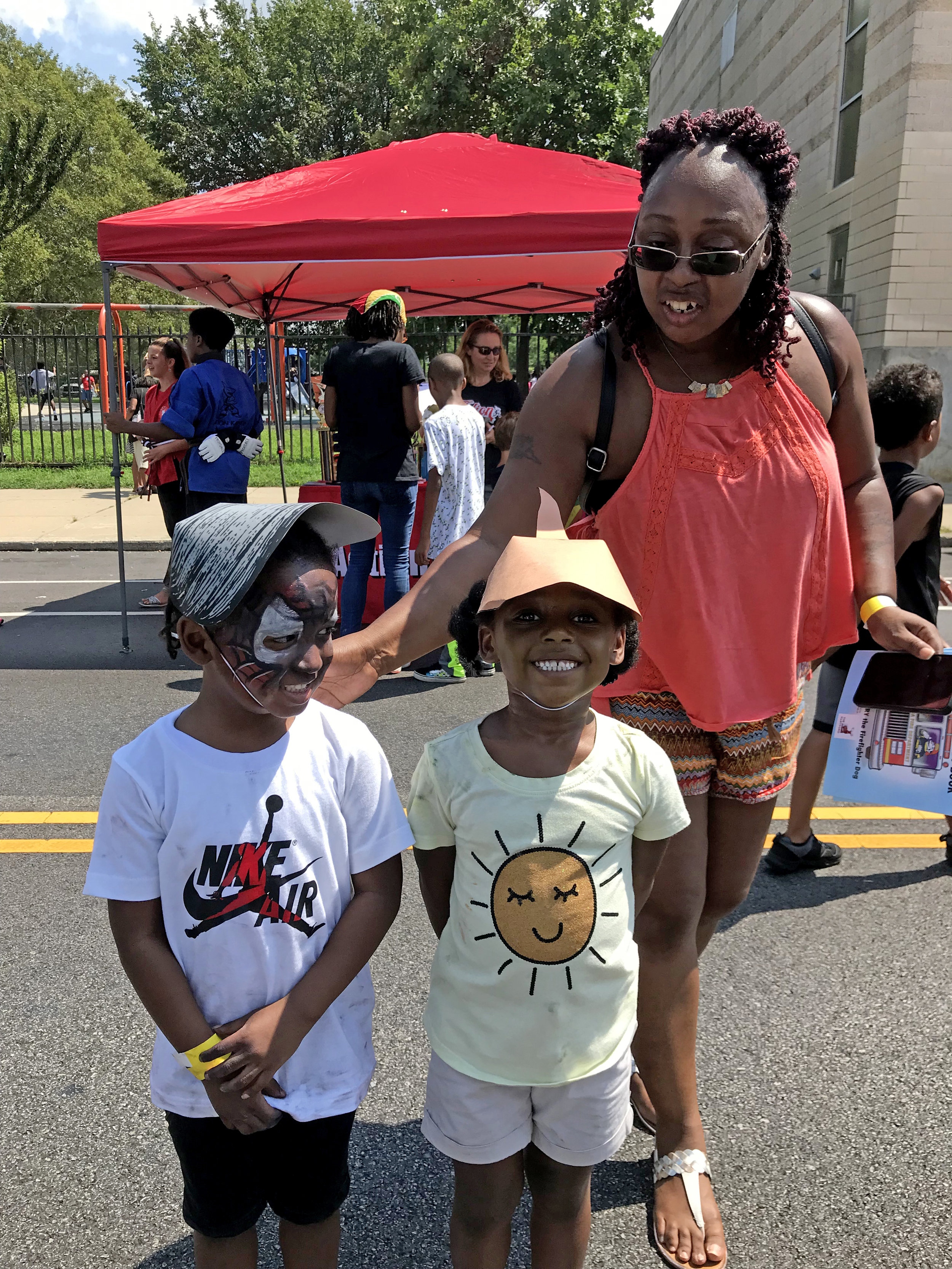 DRBC met this family at the Pennsylvania Senator Art Haywood's Back 2 School Block Party where they learned about horseshoe crabs and freshwater mussels (and they made the mussel and crab hats they are modeling.)