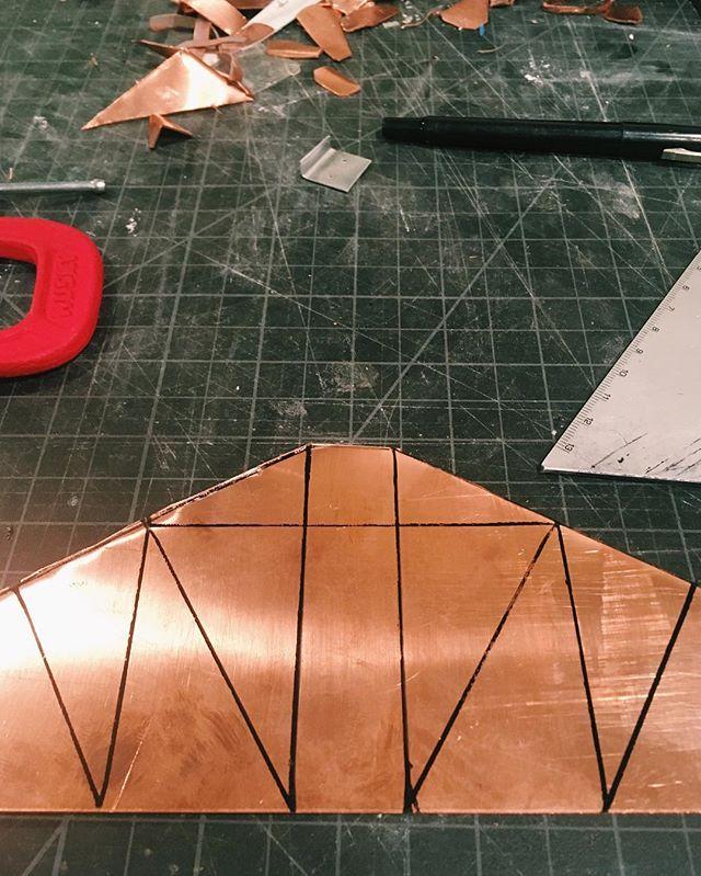 Made On H . #hstreet #hstreetdc #madeindc #dcdesign #maker #craft #planters #designlife #copper #process