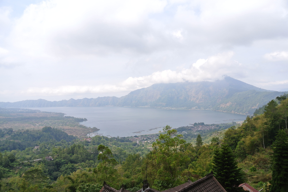 Volcano crater lake.