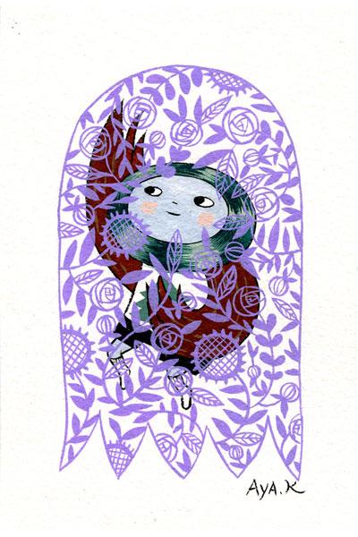 gouache on paper 5x6