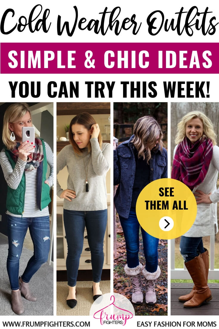 Are you struggling with the winter frump? Cold weather makes it hard to feel cute and put together, but I love these easy tips from other mom bloggers on how to dress for those winter days! #momlife #winter #fall #coldweather #howto #outfits #tips #tricks
