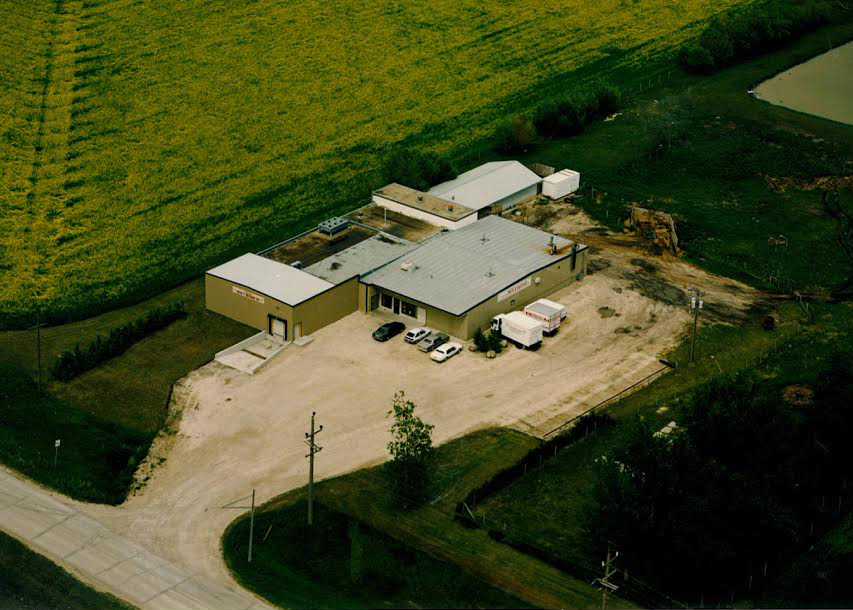 Aerial photo of Country Meat and Sausage.