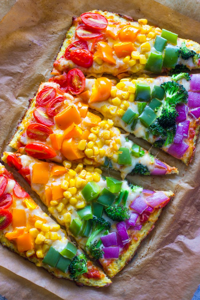 Rainbow pizza!