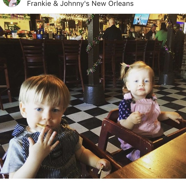 Waiting on crawfish at Frankie & Johnny's