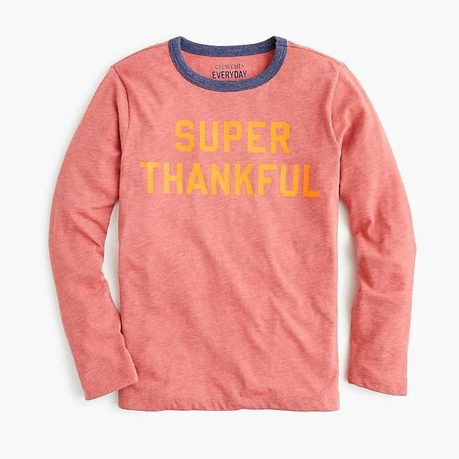 """Kids' """"super thankful"""" T-shirt"""