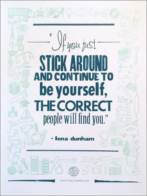Lena Dunham quote, 2015