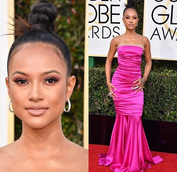 The Best Dressed for the POP OF COLOR look hands down goes to Karrueche Tran! She looked absolutely amazing! From her makeup to her dress!