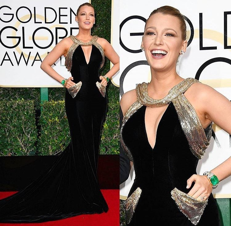 The BEST DRESSED of the 2017 Golden Globe Awards goes to none other than Blake Lively!!!