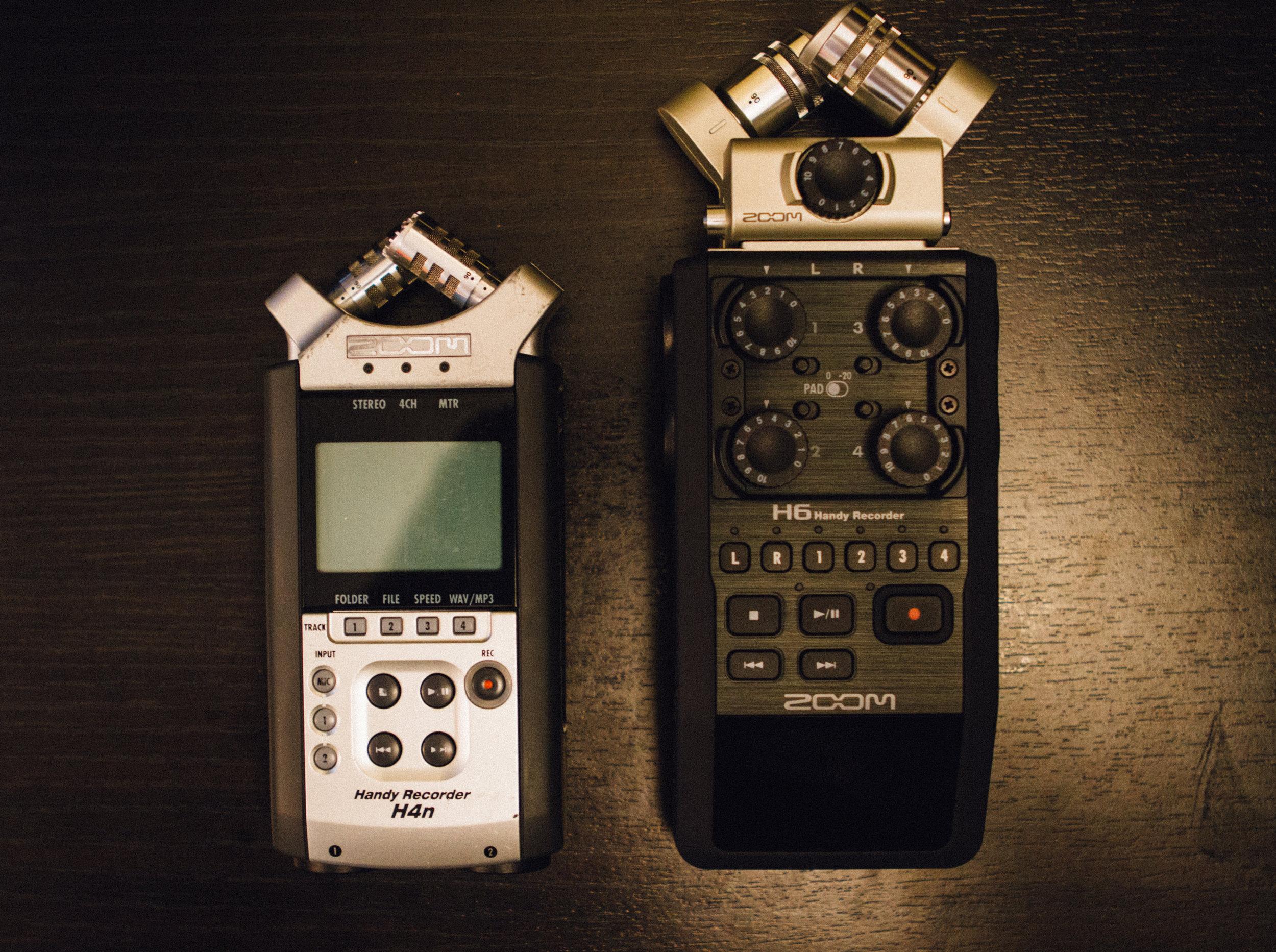 Digital Audio Recorders • Zoom H4n & Zoom H6