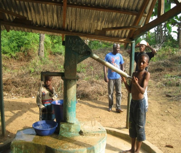 The current well in the 1940 Community