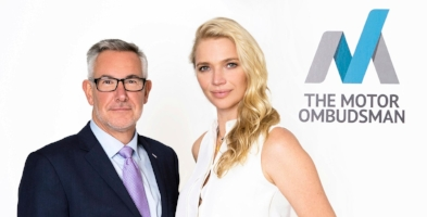 Chief Ombudsman Bill Fennell and Jodie Kidd, the former racing driver and model, who together launched The Motor Ombudsman service.