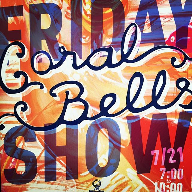 Next up poster for @coralbellsband @thecommonssd next Friday. Party @comic_con and roll in for some tunes.