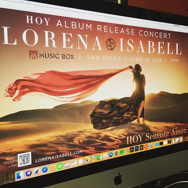 Concert poster for @lorenaisabellmusic show @musicboxsd June 10th!