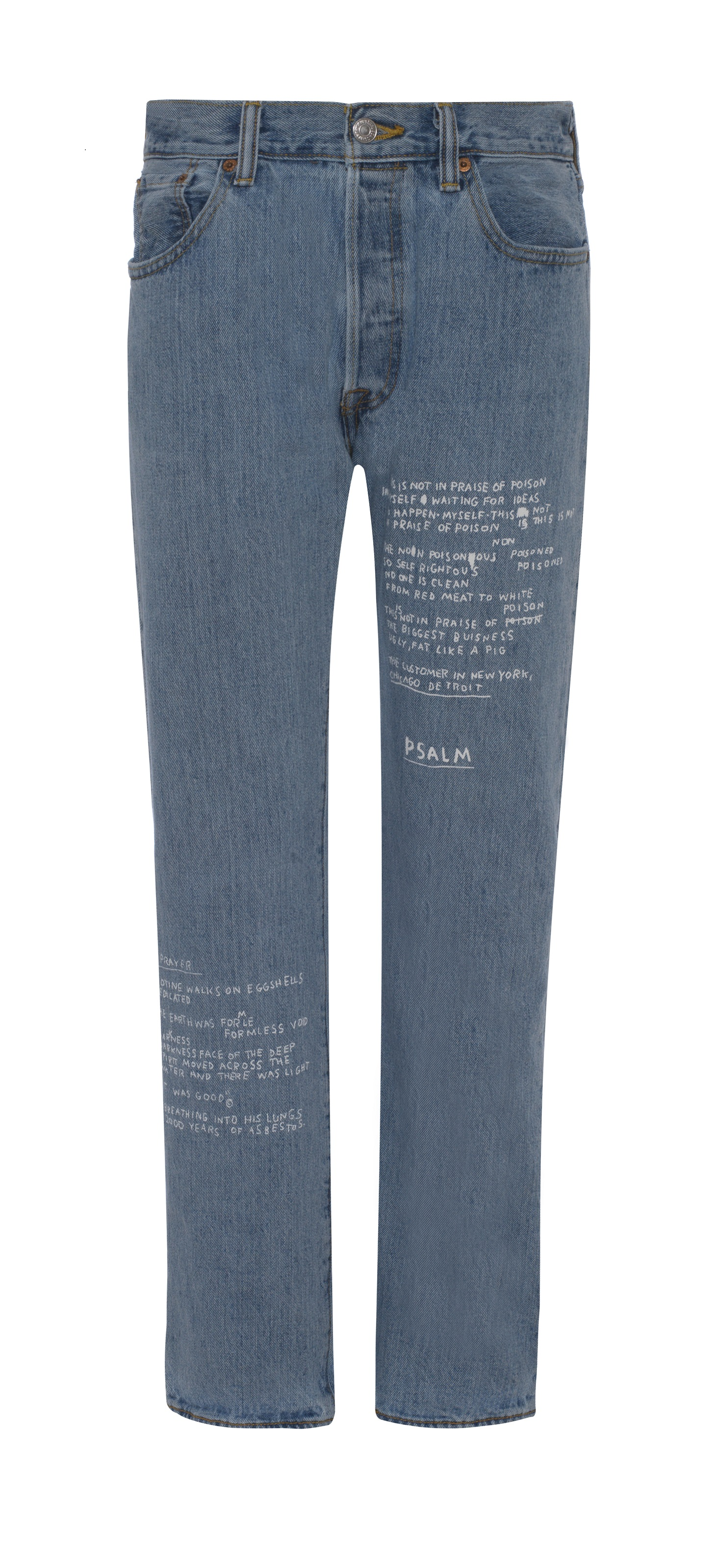 BASQUIAT - STRAIGHT LEG MID RISE JEANS WITH WRITING - £155 - BROWNS FASHION.jpg