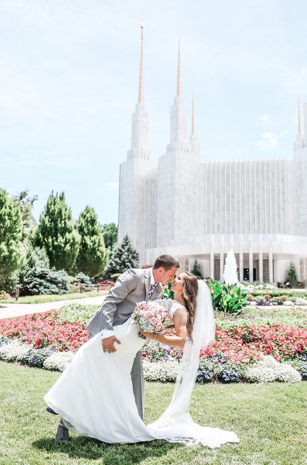 Washington DC LDS Temple Wedding & A Navy Blue Middleburg Virginia Reception   Middleburg Virginia   Andrea Rodway Photography