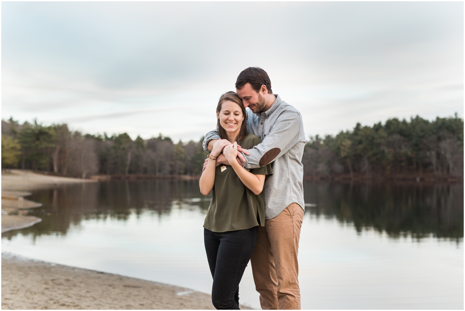 Spring Lakeside Couples Session