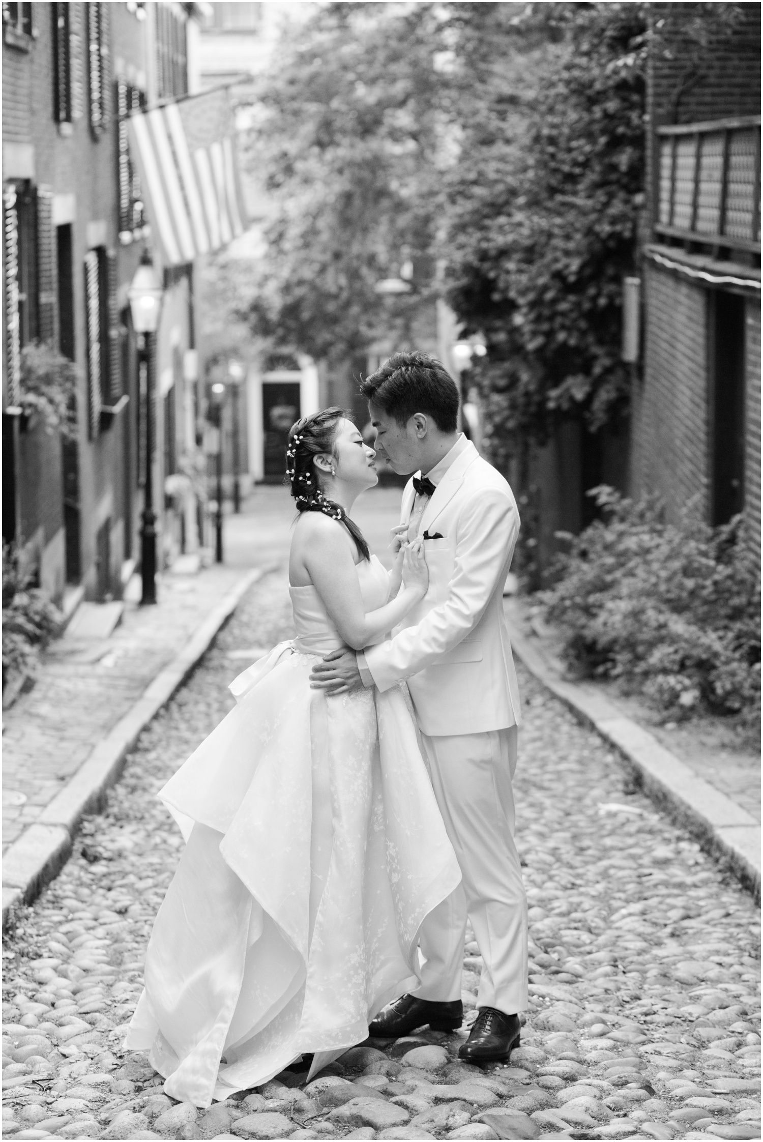 Acorn Street Engagement Session // Boston Engagement Photographer